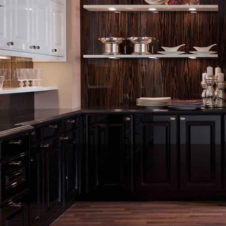 Black Kitchen Cabinets Los Angeles County Ca